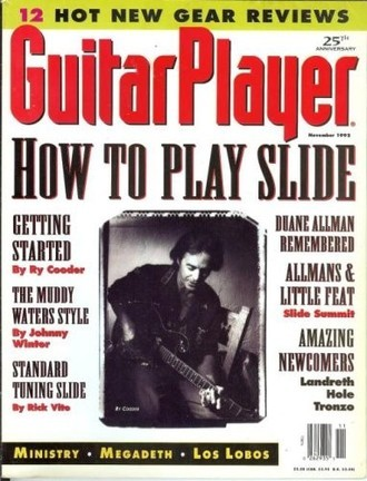 Revista Guitar Player USA (nov. 1992) - How to play slide