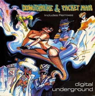 Doowutchyalike e Packet man - digital underground LP (imp. USA)