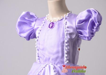 1e4ecb315c Vestido Princesa Sofia Luxo - Moranguinho Vestidos
