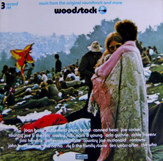 Woodstock original soundtrack and more LP triplo (capa desgastada)