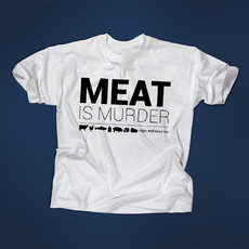 "Camiseta ""Meat is Murder"" (branca)"
