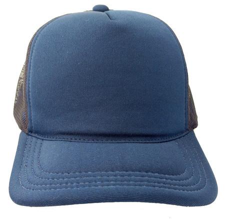 Boné Trucker Tela Oldschool Redinha Azul Escuro Azul Marinho e716f324738bf