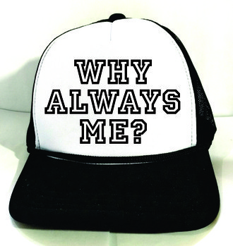 Boné Trucker WHY ALWAYS ME BALOTELLI Branco e Preto