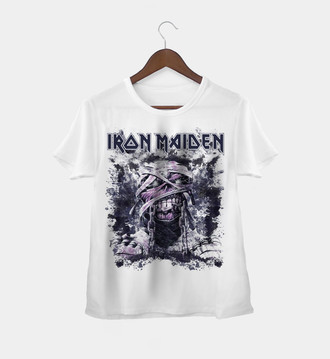 Camiseta Rock Feminina Iron Maiden