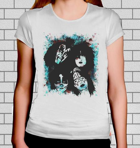 9c3b7d05b Camiseta feminina Kiss (2) - Camisas de bandas de rock - Rocker ...
