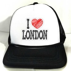 Boné Trucker I LOVE LONDON INGLATERRA ENGLAND Branco e Preto