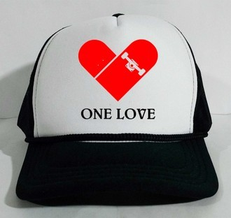 Boné Trucker I love skate Skateboard One love