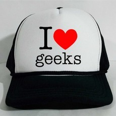 Boné Trucker I love geeks Nerd Game