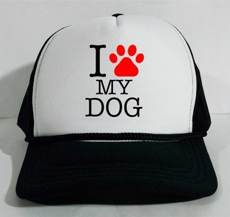 Boné Trucker I love my dog PET eu amo meu cão