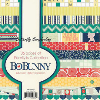 "BLOCO 6""X6"" - BO BUNNY - FAMILY IS"