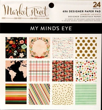 "BLOCO 6""X6"" - MY MIND'S EYES - MARKET STREET"