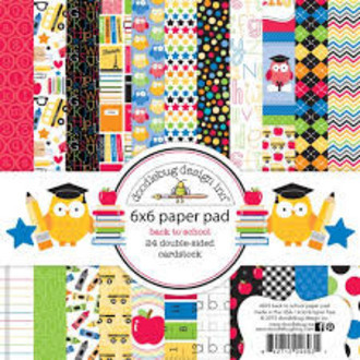 "BLOCO 6""X6"" - DOODLEBUG DESIGN - BACK TO SCHOOL"