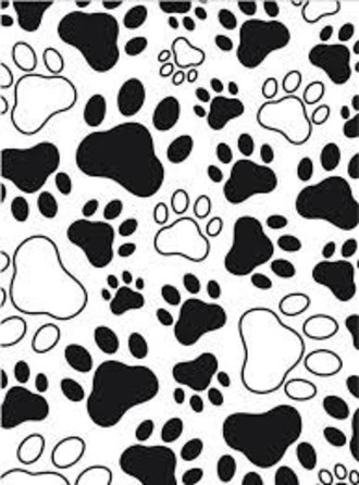 EMBOSSING FOLDER DARICE - PAW PRINT BACKGROUND