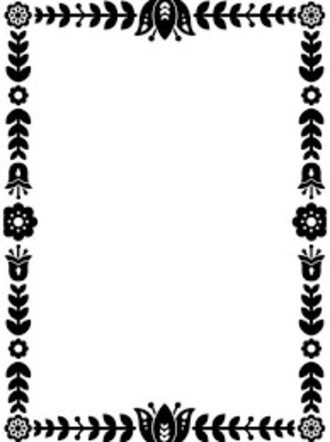 EMBOSSING FOLDER DARICE - FLORAL BORDER