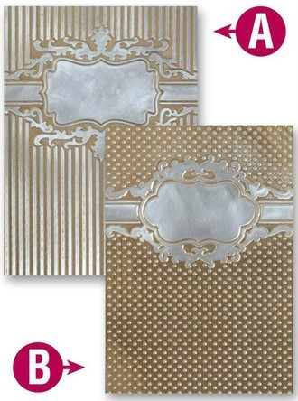 EMBOSSING FOLDER SPELLBINDERS - FRAMED PETITE LABELS