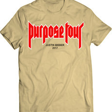 Justin Bieber Purpose Tour 2017 (Camiseta Unissex)