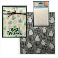 EMBOSSING FOLDER ECHO PARK PAPER - PINAPPLE