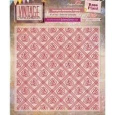 EMBOSSING FOLDER CRAFTER'S COMPANION - ROSE PLAID