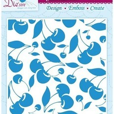EMBOSSING FOLDER CRAFTER'S COMPANION - CHERRY-LICIOUS
