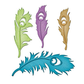 FACA SPELLBINDERS - SHAPEABILITIES - PEACOCK FEATHERS