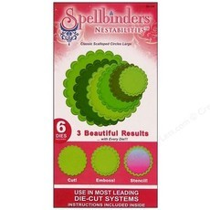 FACA SPELLBINDERS - NESTABILITIES - CLASSIC SCALLOPED CIRCLES LARGE