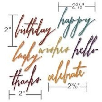 FACA SIZZIX - THINLITS - TIM HOLTZ - HANDWRITTEN CELEBRATE