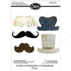 FACA SIZZIX - THINLITS - TOP HATS & MUSTACHES