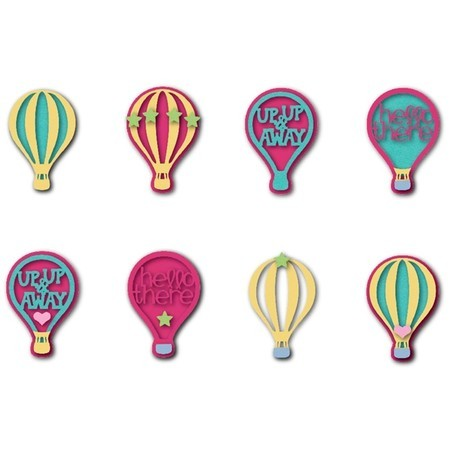 FACA SIZZIX - TRIPLITS - STEPHANIE BARNARD - HOT AIR BALLOONS