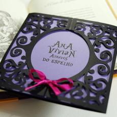 6faee83d43b Envelope Luva Relevo Seco Floral em Papel Vergê - Atelier Rosa Mia