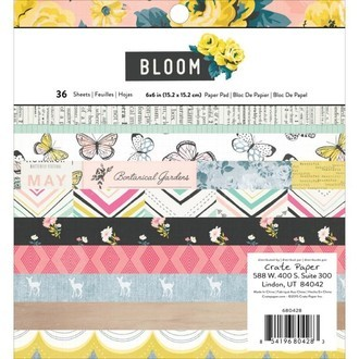 "BLOCO 6""X6"" - CRATE PAPER - BLOOM"