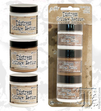 DISTRESS COLLAGE MEDIUM - RANGER - TIM HOLTZ - MATTE/VINTAGE/ CRAZING