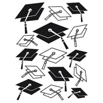 EMBOSSING FOLDER DARICE - GRADUATION CAP