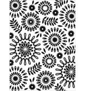 EMBOSSING FOLDER DARICE - CIRCLES FLORAL