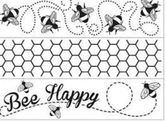 EMBOSSING FOLDER DARICE - 3 PK BORDER BEE THEME