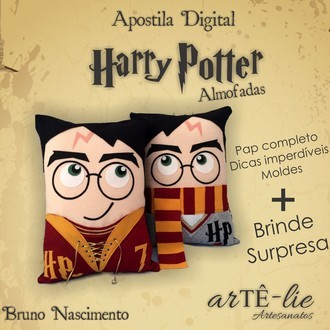 Apostila Digital Harry Potter Almofadas - com Brinde Surpresa