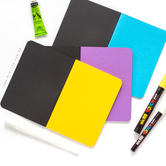 Kit de Journals Punk - Páginas Coloridas 120g/m²