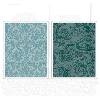 EMBOSSING FOLDER SIZZIX - DAMASK & REGAL FLOURISHES SET