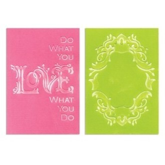 EMBOSSING FOLDER SIZZIX - FRAME & LOVE SET