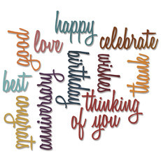 FACA SIZZIX - THINLITS - TIM HOLTZ - CELEBRATE