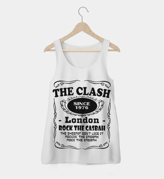 Regata Rock Feminina The Clash