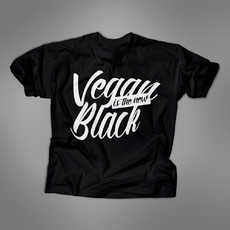 "Camiseta ""Vegan Is The New Black"" (preta)"