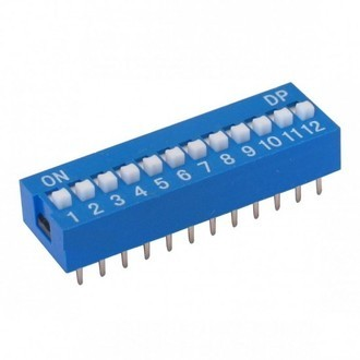 CHAVE DIP SWITCH 12 VIAS 180 GRAUS (M1)