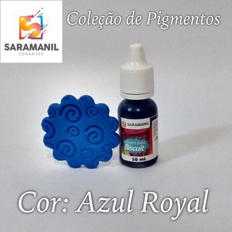Corante liquido - Azul Royal - 10 ml - Saramanil