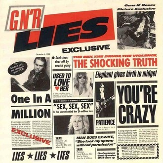 Guns N' Roses - G N'R Lies LP