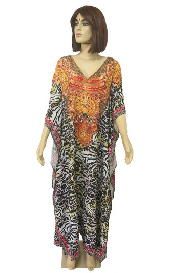 Kaftan Longo Digital - Vestido Digital Animal Print