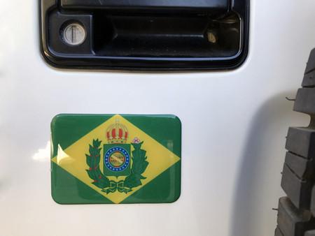 3fa1dbd569 Adesivo Resinado Bandeira Imperial do Brasil - Von Regium