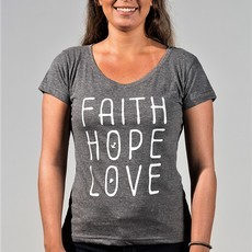 Faith Hope Love Cinza