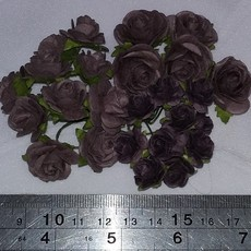 FLORES WILD ORCHID CRAFTS - KIT OPEN ROSES - WALNUT