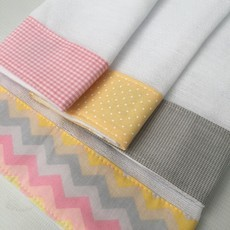 kit 4 fraldas chevron rosa