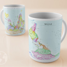 Caneca Mapa Mundi 'invertido' - 325ml